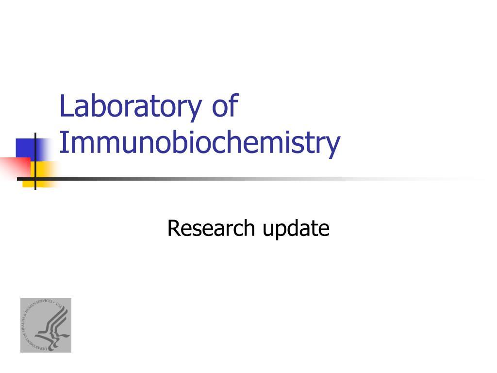 laboratory of immunobiochemistry l.