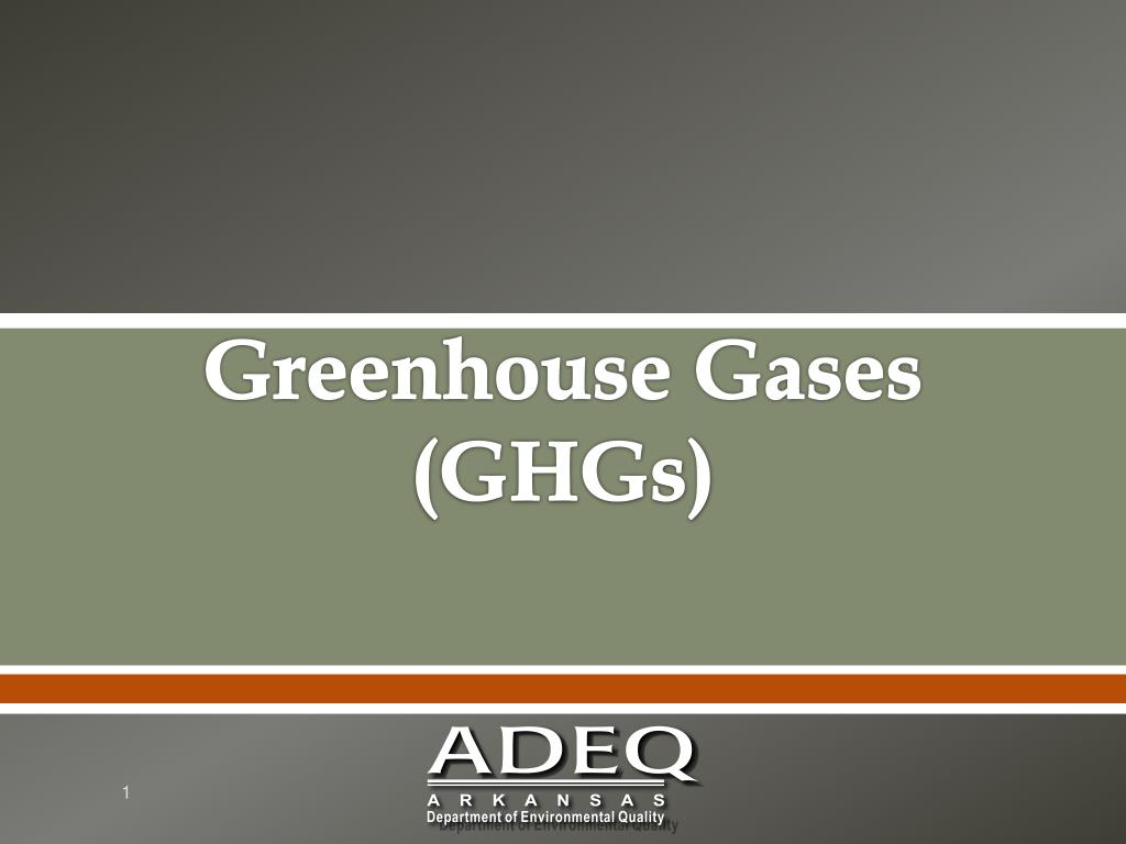 greenhouse gases ghgs l.