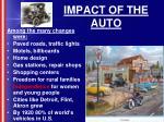 impact of the auto