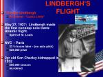 lindbergh s flight
