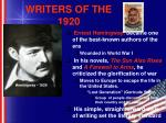 writers of the 1920