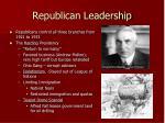republican leadership