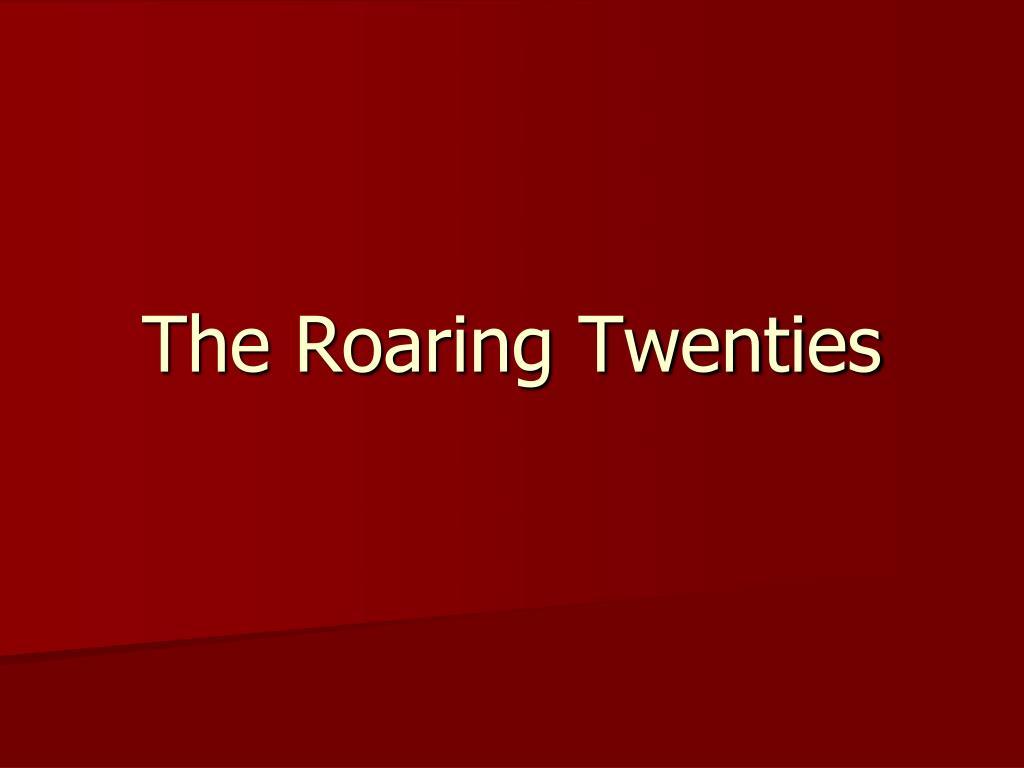 the roaring twenties l.