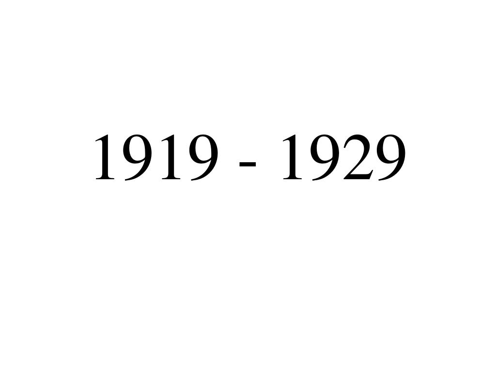 1919 1929 l.