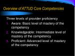 overview of attud core competencies