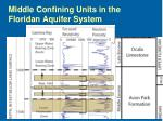 middle confining units in the floridan aquifer system