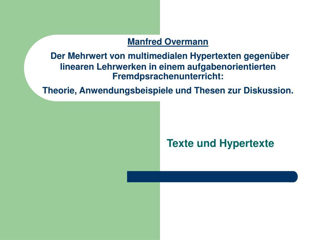 texte und hypertexte l.