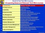 10 learning areas and relevant ten3 mini courses