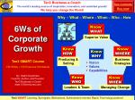 6ws of corporate growth
