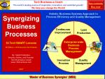 synergizing business processes