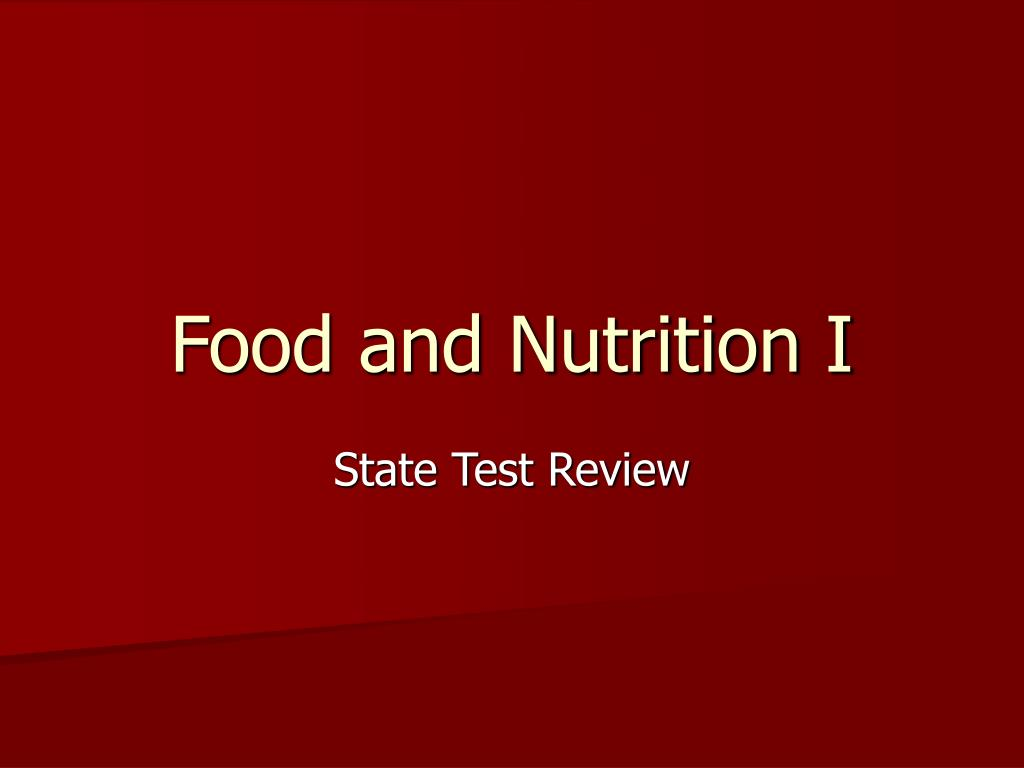 food and nutrition i l.