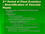 2 nd period of plant evolution diversification of vascular plants