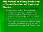 4th period of plant evolution diversification of vascular plants45