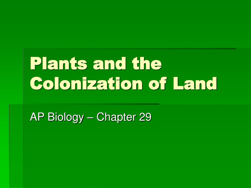 plants and the colonization of land l.
