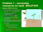 problem 1 accessing resources on land solution