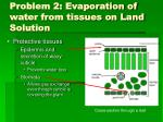 problem 2 evaporation of water from tissues on land solution