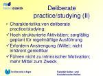deliberate practice studying ii