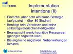 implementation intentions ii