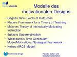 modelle des motivationalen designs