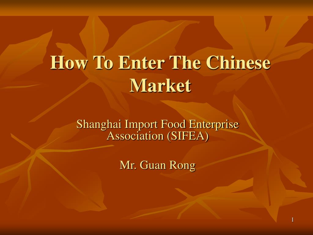 how to enter the chinese market l.