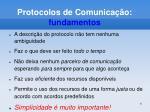 protocolos de comunica o fundamentos
