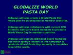 globalize world pasta day20