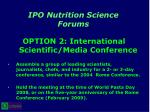 ipo nutrition science forums30