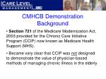 cmhcb demonstration background