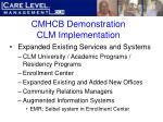 cmhcb demonstration clm implementation29
