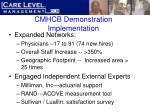 cmhcb demonstration implementation