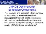 cmhcb demonstration solicitation components20