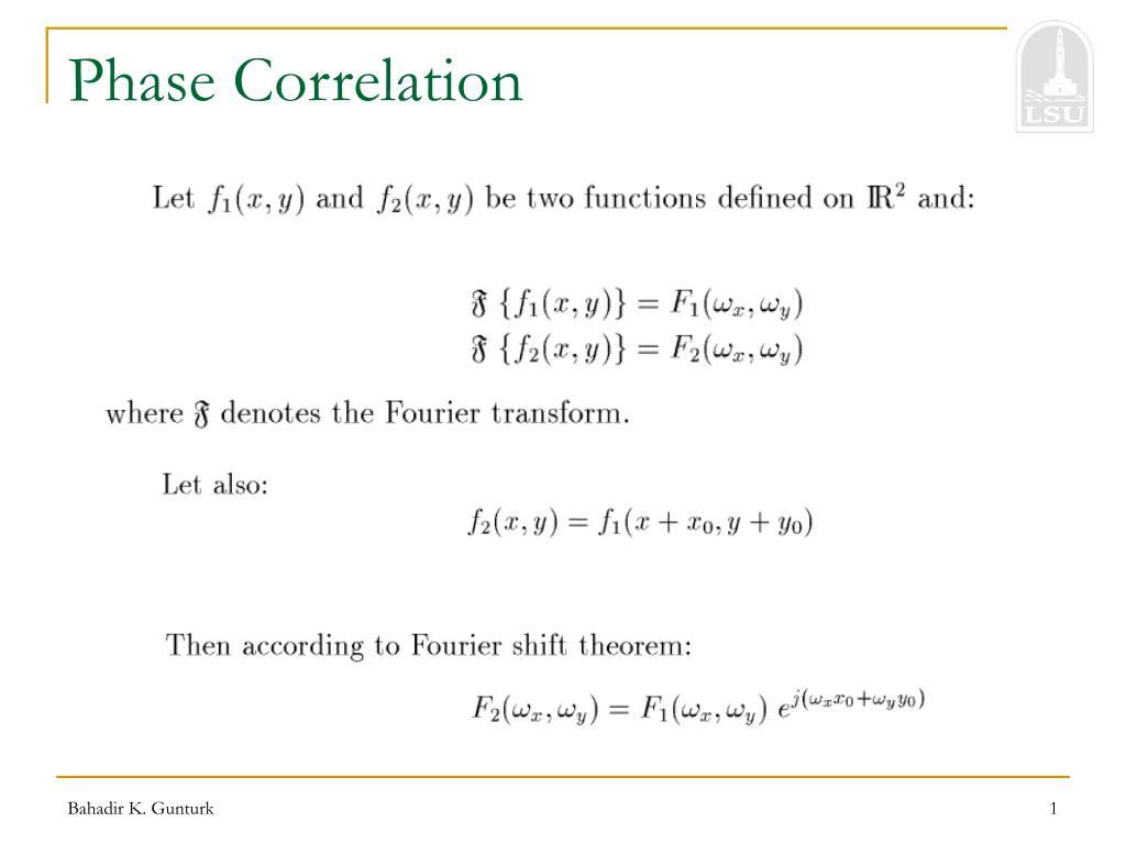 phase correlation l.
