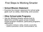 first steps to working smarter