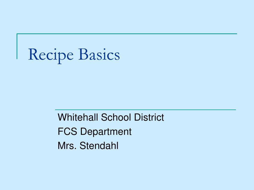 recipe basics l.