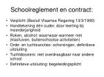 schoolreglement en contract