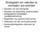 strategie n om valkuilen te vermijden pro activiteit