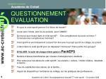 questionnement evaluation