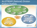 allstream national division product portfolio