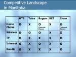 competitive landscape in manitoba