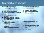 fisher s valuation approach143
