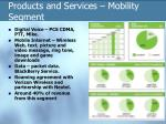 products and services mobility segment