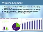 wireline segment
