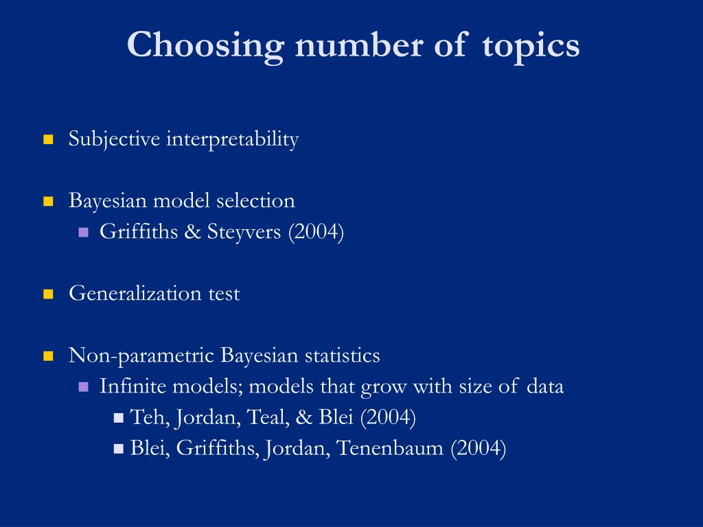 Choosing number of topics
