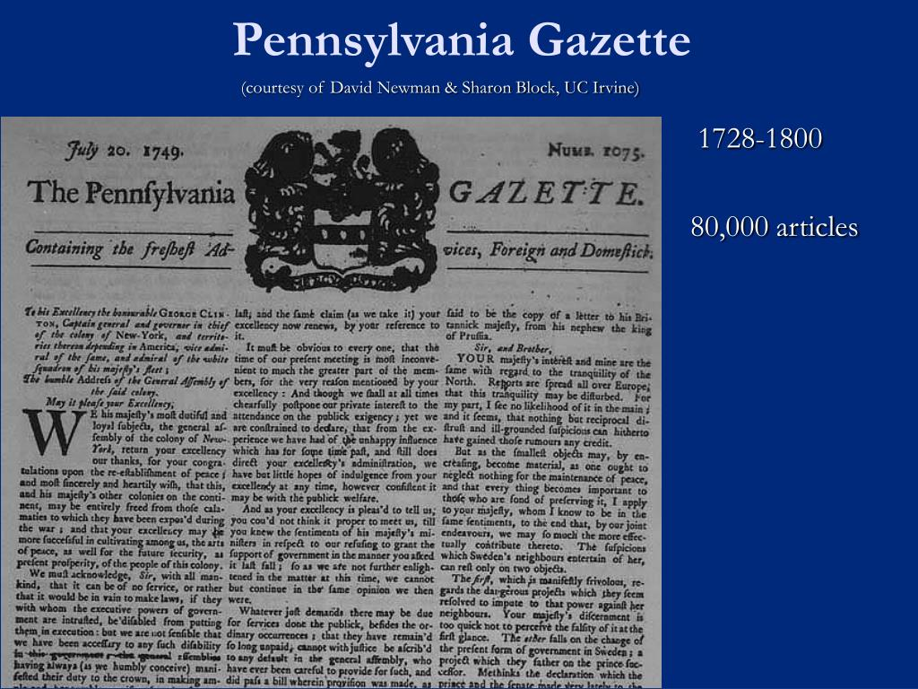 Pennsylvania Gazette