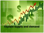 explain supply and demand