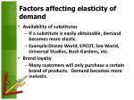 factors affecting elasticity of demand