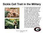 sickle cell trait in the military