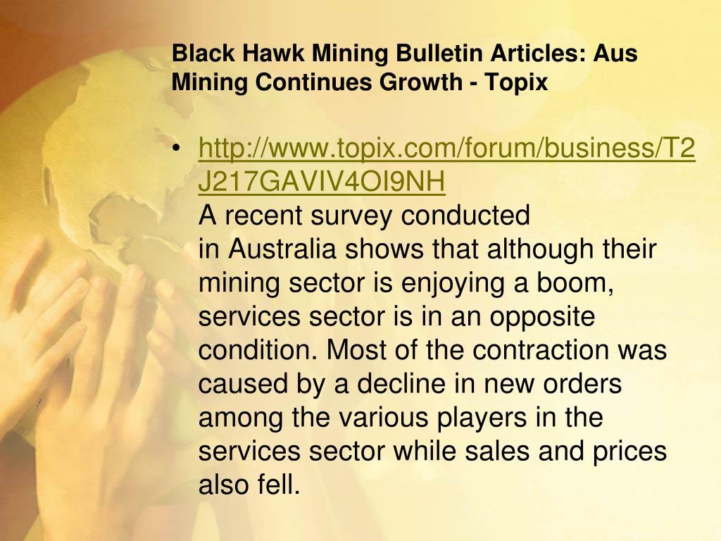 Ppt Black Hawk Mining Tumblr Blog Powerpoint Presentation Free Download Id 536916