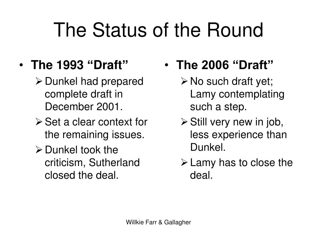 "The 1993 ""Draft"""