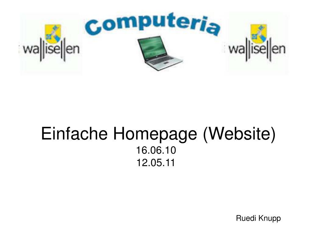 einfache homepage website 16 06 10 12 05 11 l.